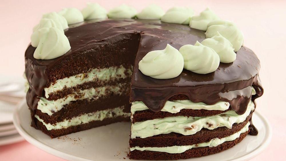 recipes dishmaps chocolate pistachio torte with warm chocolate ganache ...