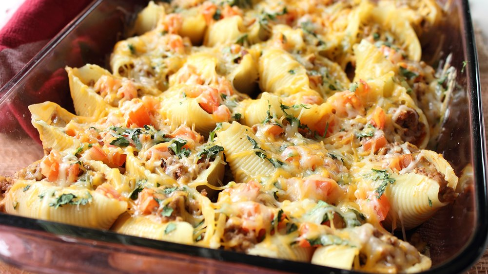 Taco-Stuffed Pasta Shells recipe from Pillsbury.com