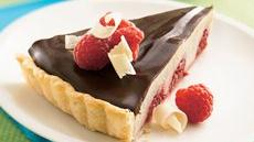 White and Dark Chocolate Raspberry Tart Recipe