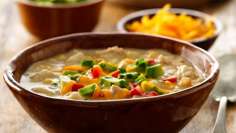 Hearty White Chicken and Corn Chili recipe from Pillsbury.com