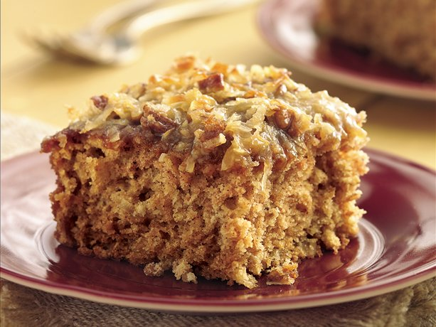 Image of Applesauce Oatmeal Cake With Broiled Coconut Topping, Betty Crocker