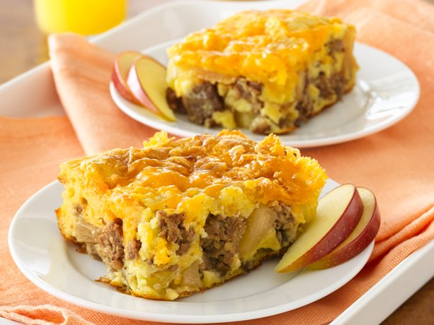 Image of Apple-sausage-cheddar Breakfast Bake, Betty Crocker