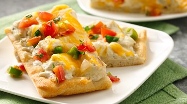Creamy Green Chile Chicken Pizza