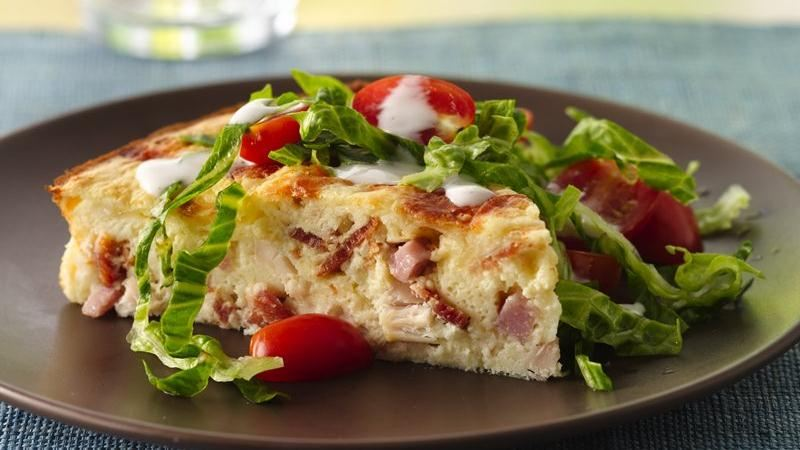 Impossibly Easy Chicken Club Pie recipe from Betty Crocker