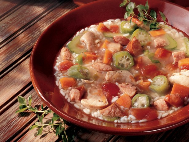 Slow Cooker Chicken 'n Rice Gumbo Soup
