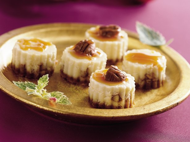 Caramel Pecan Cheesecake Bites