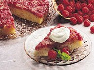 Raspberry Upside-Down Cake