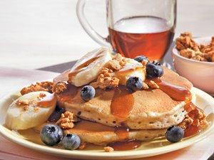 Banana Buckwheat Pancakes