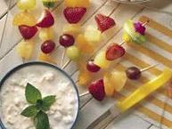 Fruit Kabobs with Pineapple Dip
