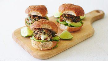 Cheesy Quinoa Sliders