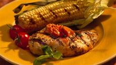 Grilled Chicken Breasts with Tomato-Basil Butter Recipe