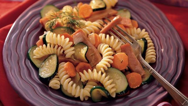 Rotini with Zucchini and Ham
