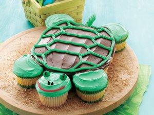 Pull-Apart Turtle Cupcakes