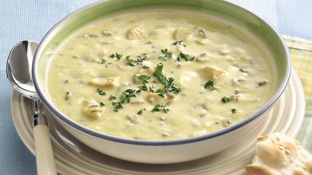 Lemon-Curry Chicken and Wild Rice Soup
