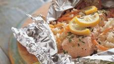 Grilled Lemon and Herb Salmon Packs Recipe
