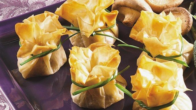 Wild Mushroom Stuffed Phyllo Bundles recipe - from Tablespoon!
