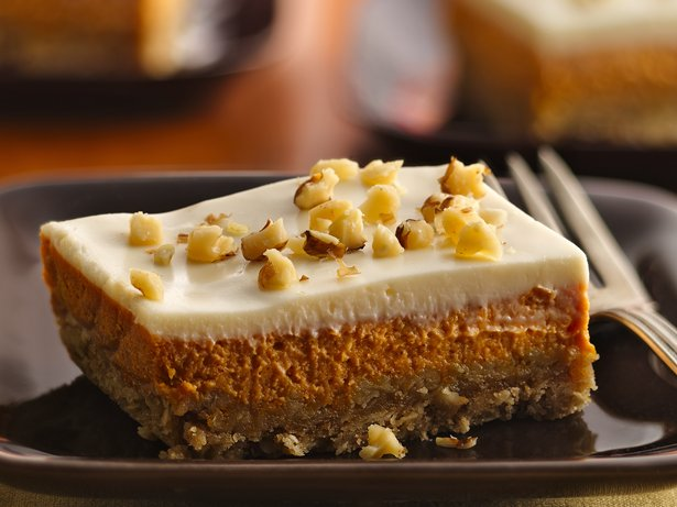 Pumpkin Cheesecake Squares recipe from Betty Crocker