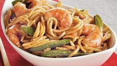 Shrimp 'n Sugar Peas Lo Mein Recipe