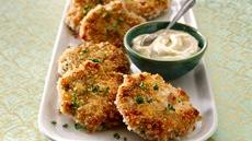 Shrimp Cakes with Wasabi Mayo Recipe