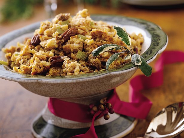 Slow Cooker Chorizo, Pecan and Cheddar Stuffing