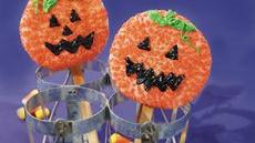 Jack-o'-Lantern Sugar Cookie Pops Recipe