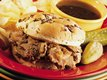 Slow Cooker Hot Beef Sandwiches Au Jus