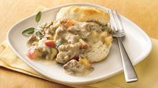 Biscuits with Sausage-Apple Gravy Recipe