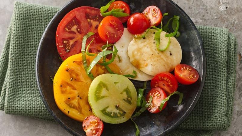 Beautiful Heirloom Tomato Salad