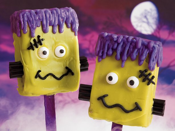 Frankenstein Brownie Pops