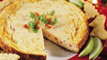 Sharp Cheddar Cheesecake