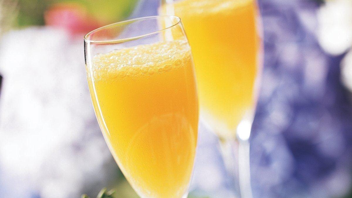 Peachy Mimosas - Life Made Delicious