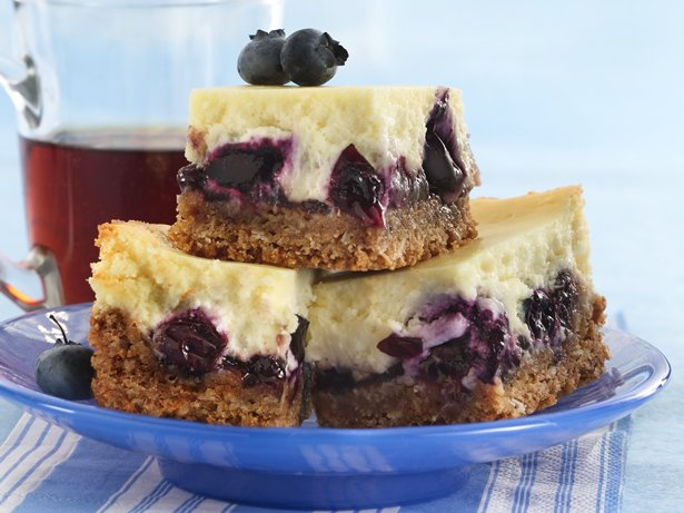 Blueberry Cheesecake Bars recipe from Betty Crocker