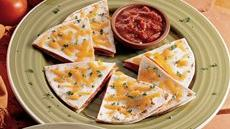 Salami Pizza Quesadillas Recipe