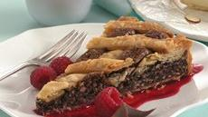 Fudge Crostata with Raspberry Sauce Recipe