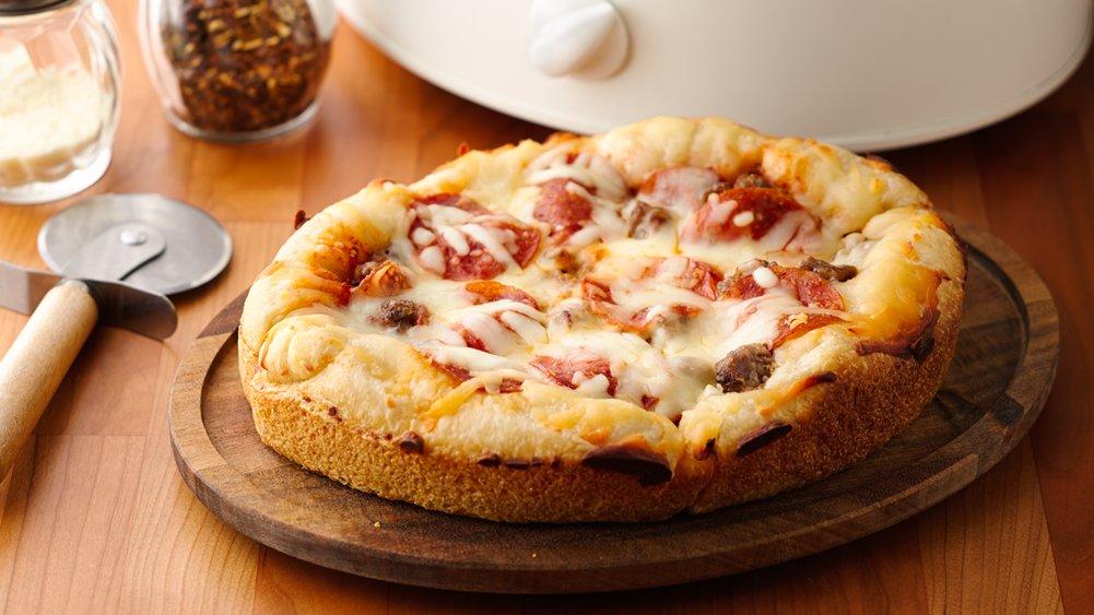 Slow-Cooker Deep-Dish Pizza recipe from Pillsbury.com