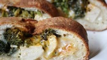 Cheesy Chicken and Broccoli Stromboli