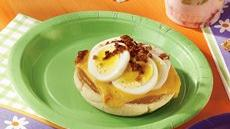 Egg and Bacon Topped Muffins Recipe
