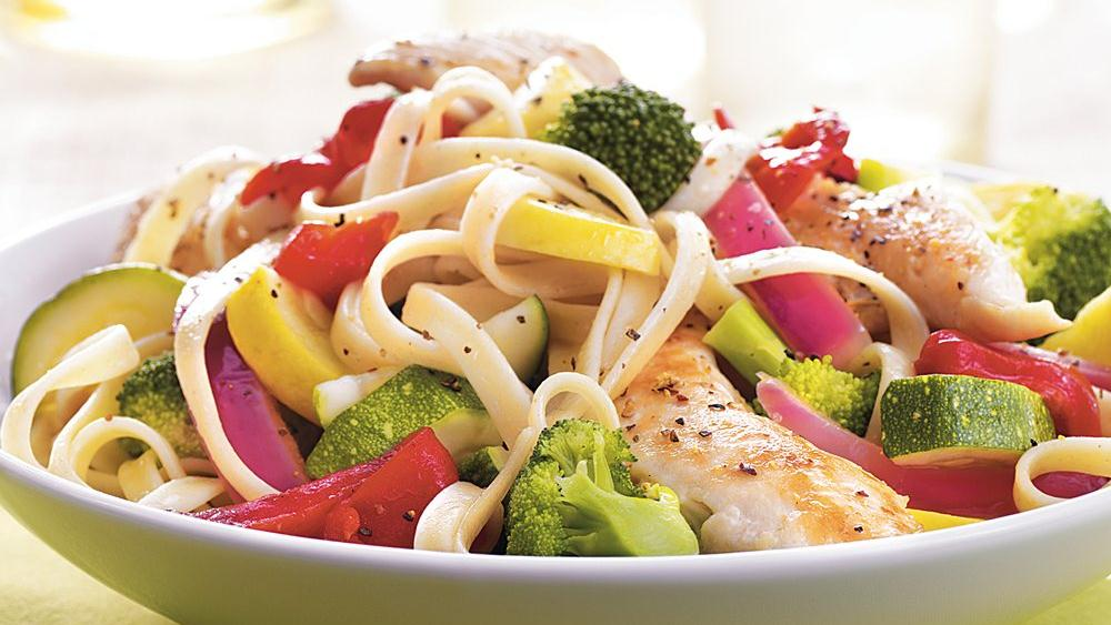 Chicken Vegetable Fettuccine