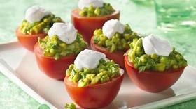 Mexican Plum-Tomato Cups Recipe