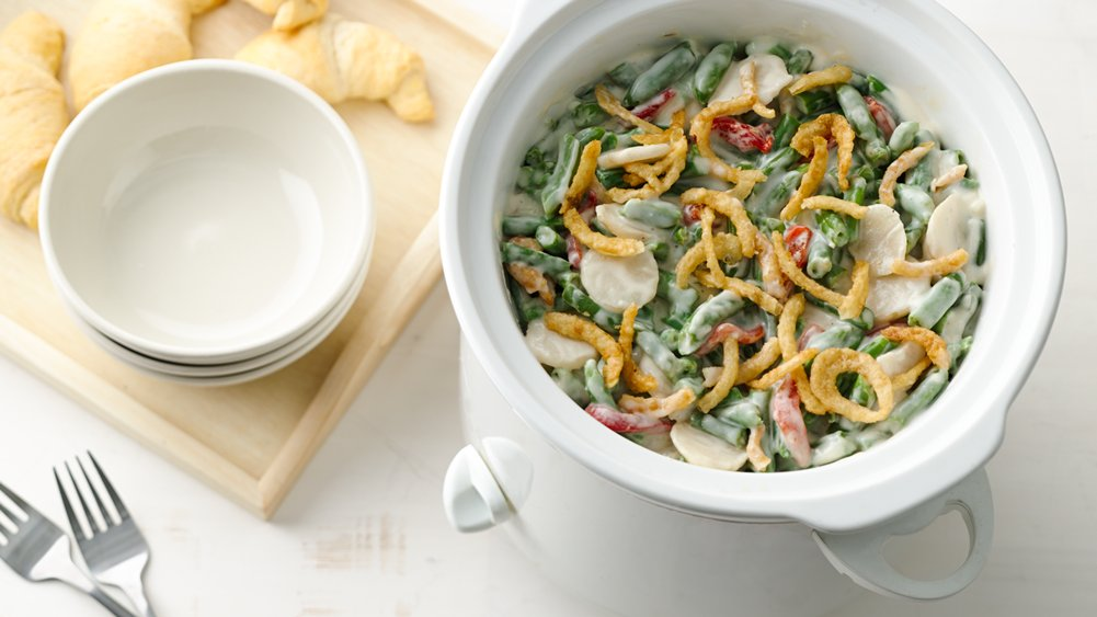 Slow-Cooker Alfredo Green Bean Casserole