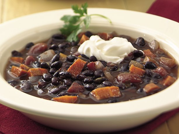 ... slow-cooker soup packed with black beans, vegetables and spicy