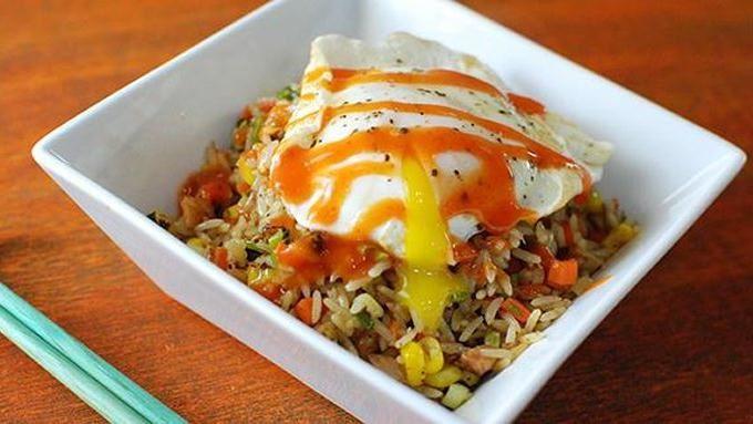 Turkey Fried Rice with Sriracha Gravy recipe - from Tablespoon!