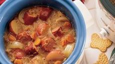 Turkey Kielbasa and Sauerkraut Dinner Recipe