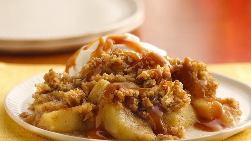 Caramel-Apple Crisp recipe from Betty Crocker
