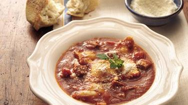 Slow-Cooker Steak and Pasta Soup