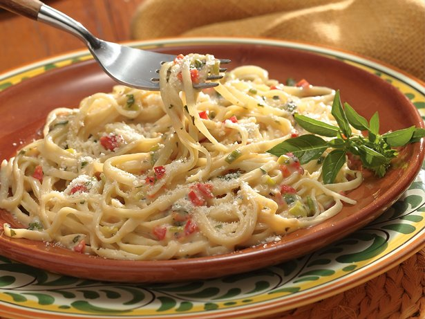 Herbed Alfredo Sauce over Linguine