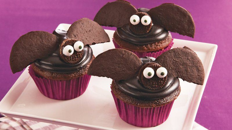 Flying Bat Cupcakes