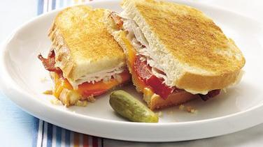 Toasted Turkey and Bacon Sandwiches