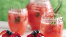 Strawberry-Mint Cooler Recipe
