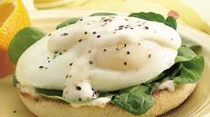 Florentine Eggs on English Muffins Recipe
